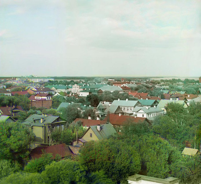 Панорама города Тверь с юга.