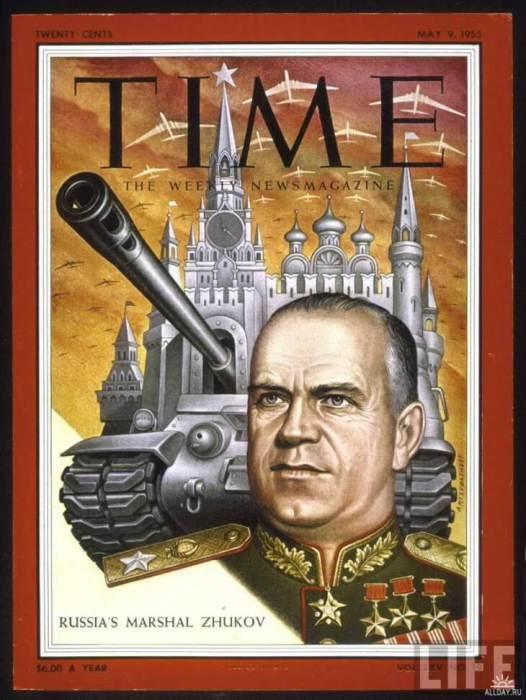 Георгий Жуков на обложке Time в 1955 году.