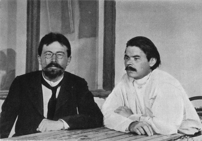 Максим Горький и Антон Павлович Чехов