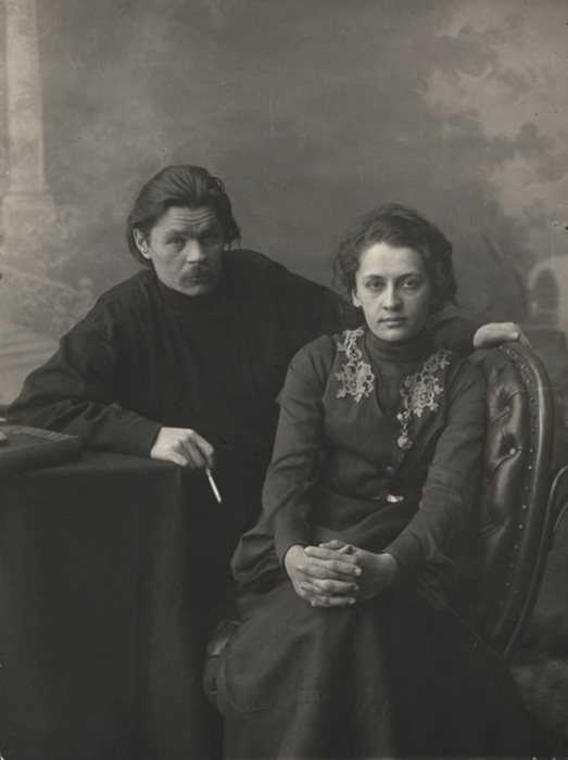 А.М. Горький с женой