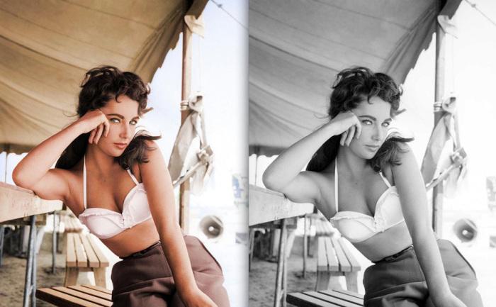 Элизабет Тейлор на съемках фильма «гигант» в 1956 году. Фотограф: Фрэнк Стоит.