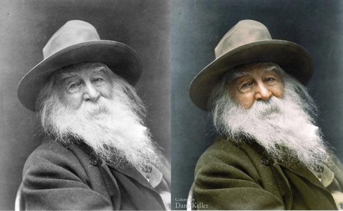 Портретный снимок Уолта Уитмена в 1887 году.