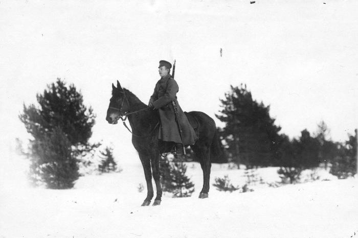 Конный стражник на границе. Россия, 1908 год.