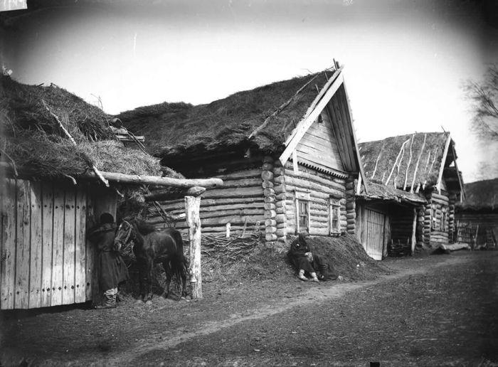 Изба крестьянина Савойкина, умершего от голода. Нижегородская губерния, Лукояновский уезд, 1891-1892 год.