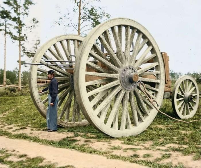 Инженерное оборудование времен гражданской войны в Америке, 1865 год.