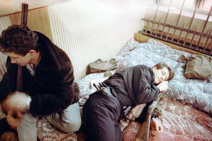 Вооруженные литовские инсургенты в Вильнюсе. Литва, 23 января 1991 года.