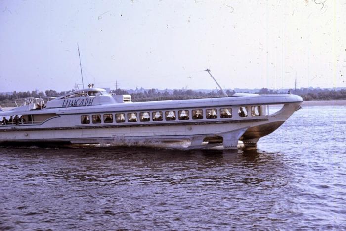 Прогулка по Днепру на катере с подводными крыльями. Киев, 1968 год.