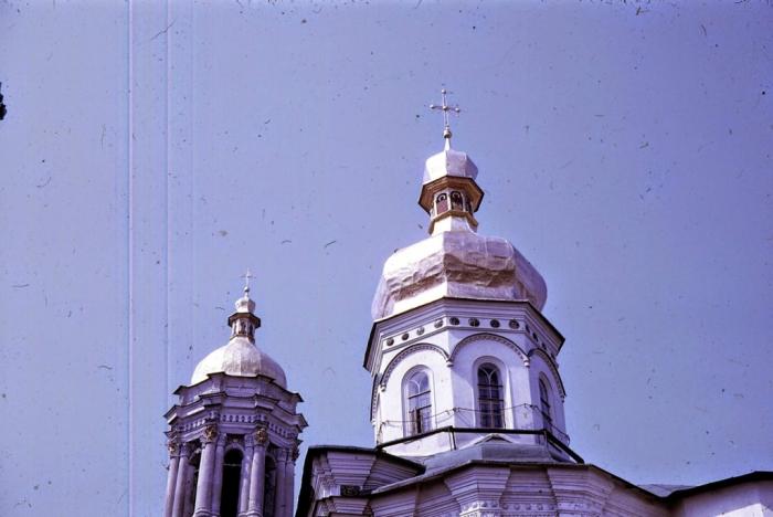 Купола Киево-Печерской Лавры. Киев, 1968 год.