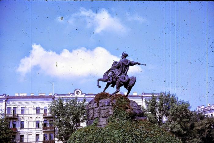 Памятник Богдану Хмельницкому. Киев, 1968 год.