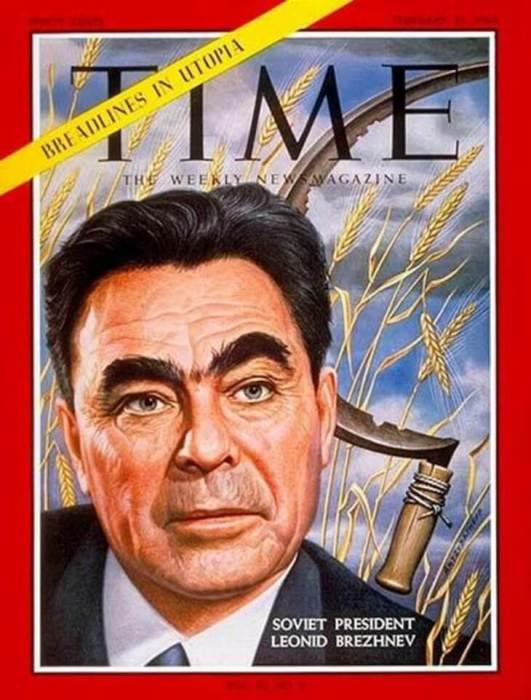 Леонид Брежнев на обложке Time в 1964 и 1972 году.