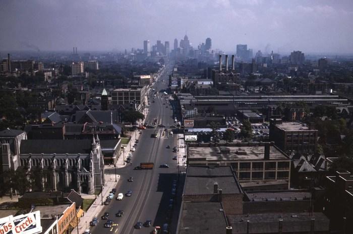 Панорама Детройта в июле 1942 года.