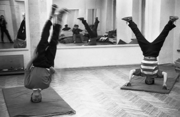 Тренировка Брейк-данса. СССР, Новокузнецк, 1988 год.
