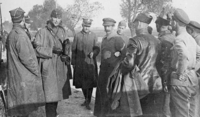 Члены польской делегации, прибывшие на переговоры в Минск. 1920-е годы.