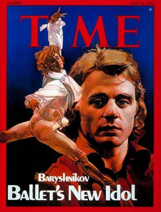 Михаил Барышников на обложке Time в 1975 году.
