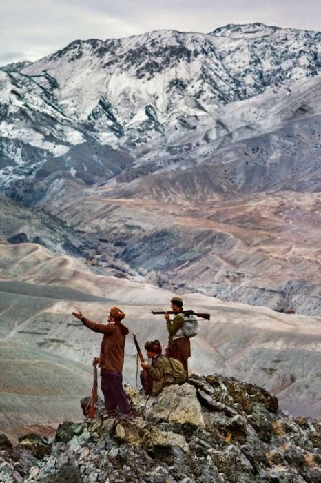 Моджахеды в горах Гиндукуш. Афганистан, провинция Логар, 1984 год.