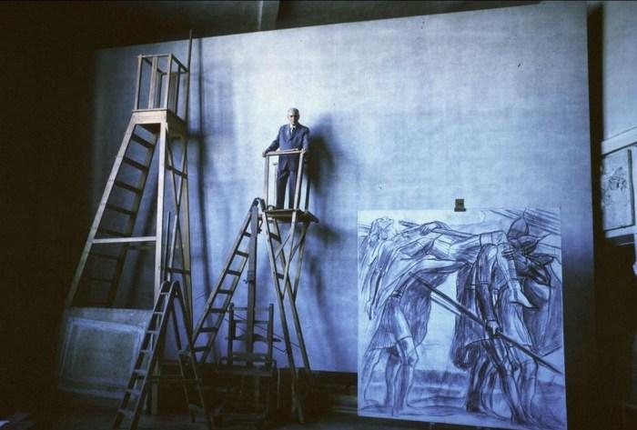 Павел Корин в своей студии. СССР, Москва, 1963 год.