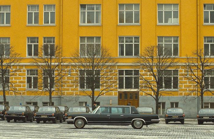 Правительственные автомобили. СССР, Москва, 1984 год.