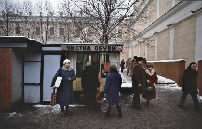 Услуги бутблекера. СССР, Москва, 1984 год.