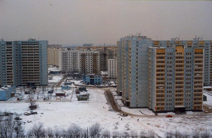 Московские новостройки в объективе иностранного туриста. СССР, Москва, 1984 год.