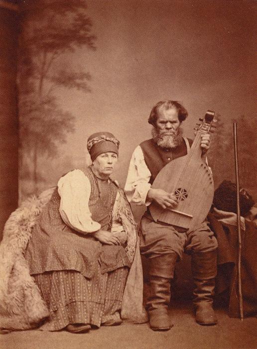 Старый кобзарь Остап Вересай из села Сокиринцы. 1873 год.