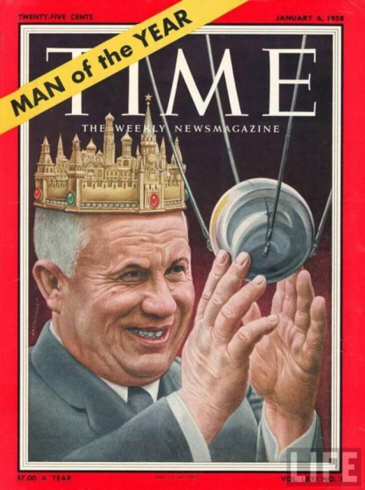 Никита Хрущев на обложке Time в 1957 году.