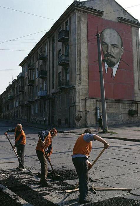 Ремонтные работы. СССР, Одесса, 1988 год.