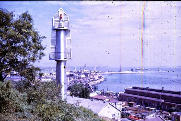 Панорама морского порта в Одессе. 1968 год.