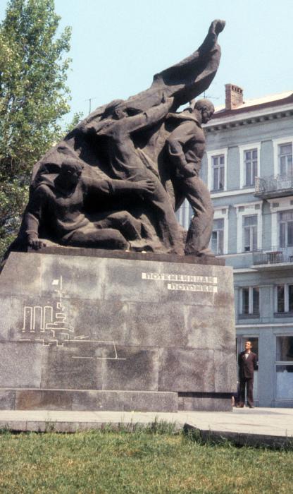 Памятник Потемкинцам в Одессе.