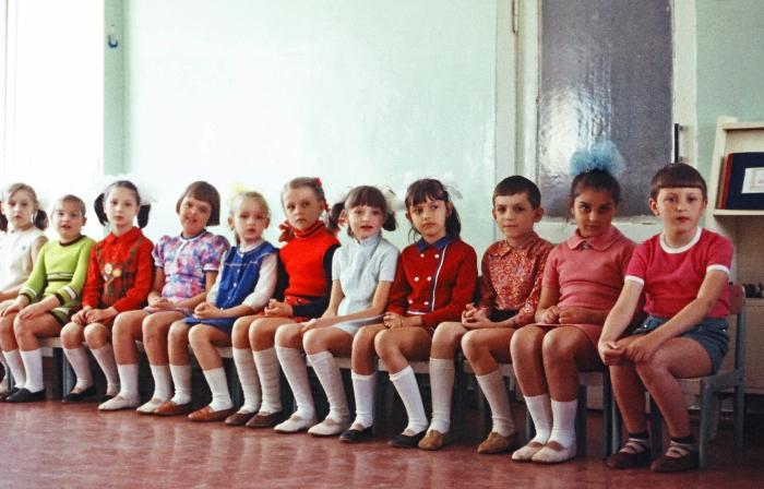 Старшая группа в детском садике. СССР, Одесса, 1977 год.