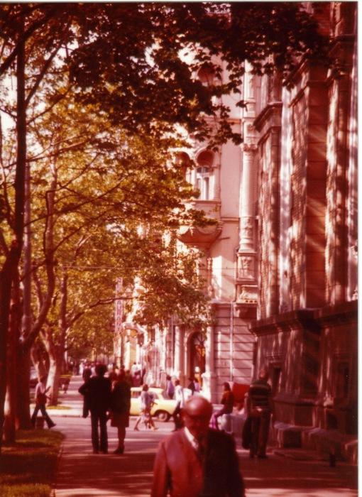 Одна из старинных улиц Одессы. СССР, Одесса, 1976 год.