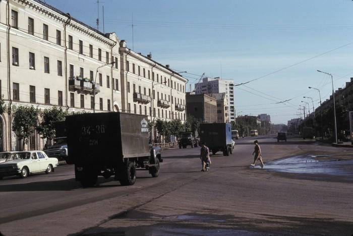 Улица Ленина. СССР, Омск, 1979 год.