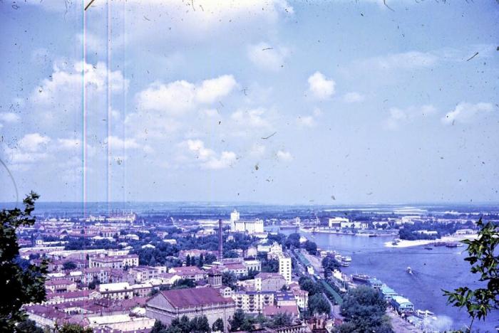 Панорама старой части города Киева. 1968 год.