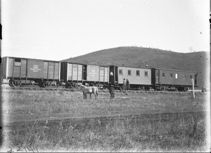Пассажирские вагоны. Хибины, 1901 год.