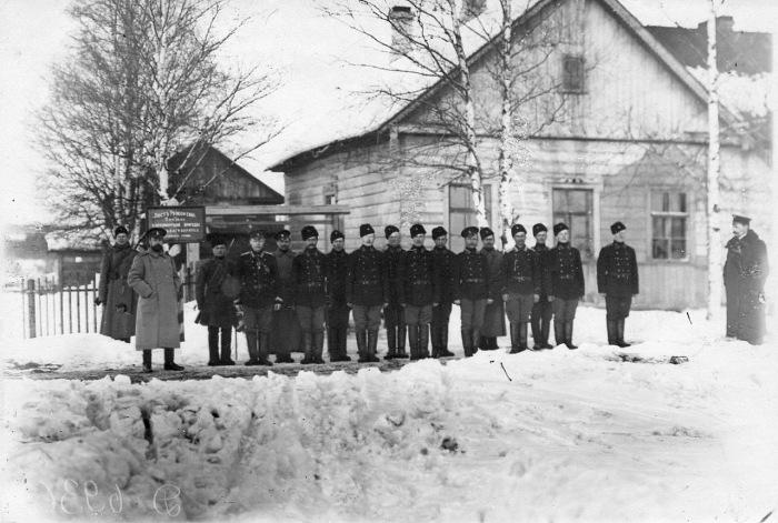 Личный состав Раяйокского поста в 1908 году.