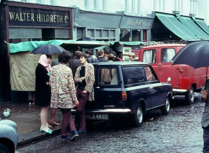 Лондонский рынок моды в 1969 году.