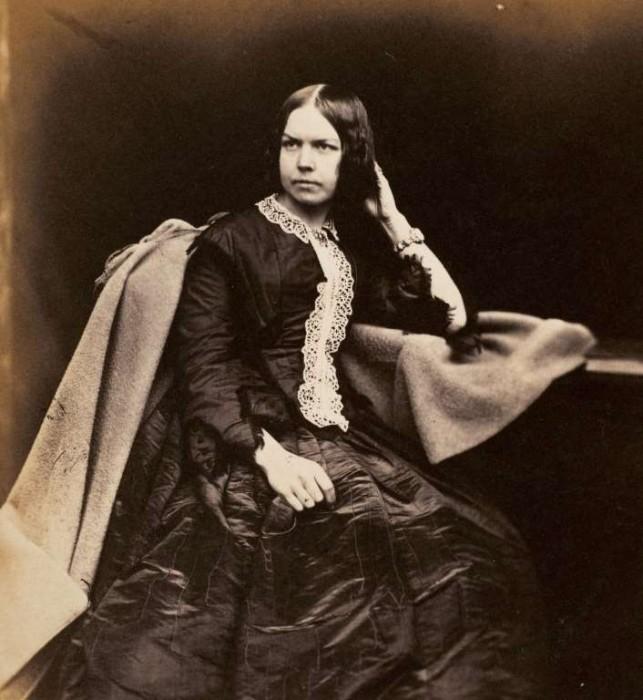 Портрет женщины, сделанный примерно в 1854 году.