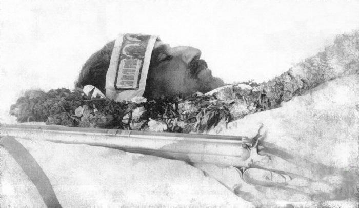 Посмертная фотография Пржевальского. 8 ноября 1888 года.