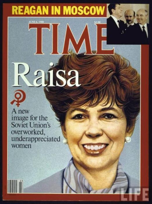 Раиса Горбачева на обложке Time в 1988 году.