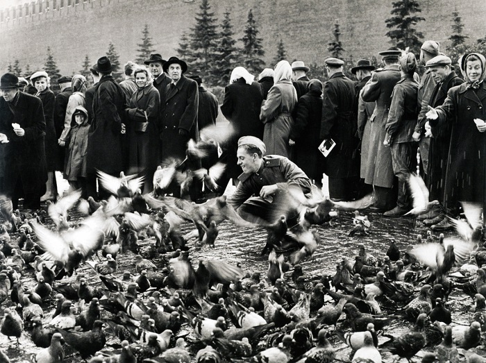 Красная площадь. Москва 1947 год.