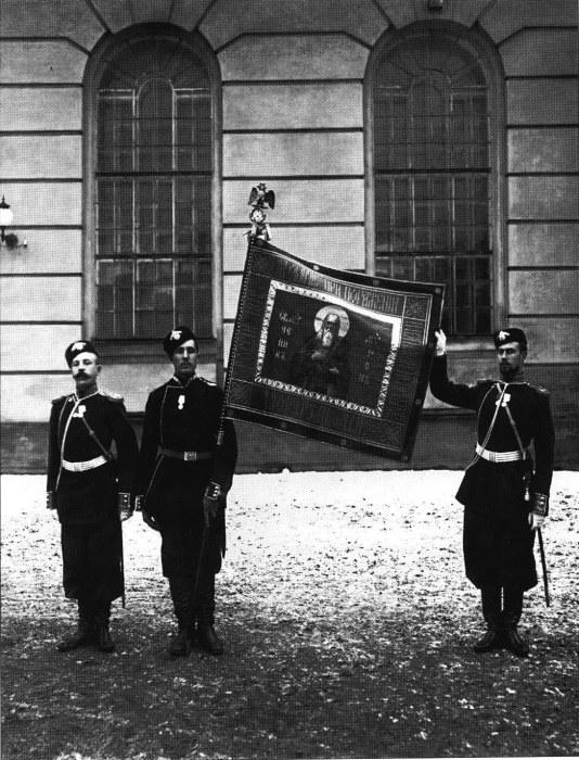 Полковое знамя лейб-гвардии Егерского полка. Россия, 1907 год.