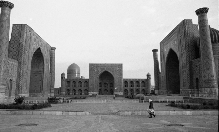 Площадь в центре Самарканда. СССР, Узбекистан, Самарканд, 1984 год.