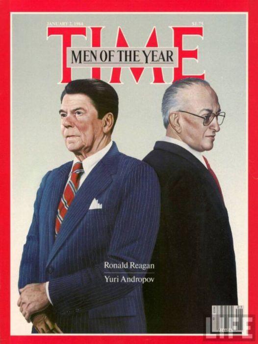 Рональд Рейган и Юрий Андропов на обложке Time в 1984 году.