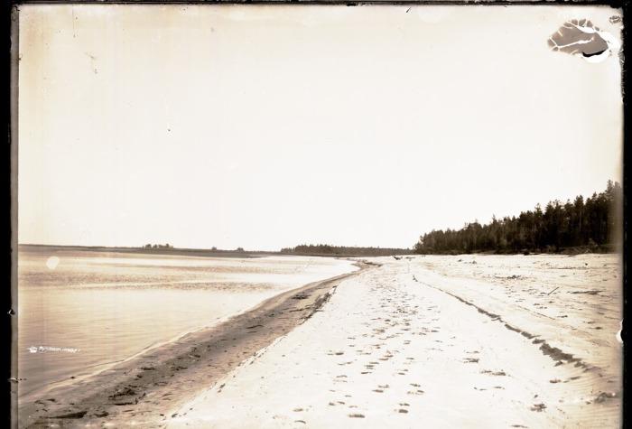 Левый берег реки Конда в Западной Сибири.