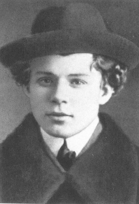 Портретный снимок Сергея Есенина, 1913 год.