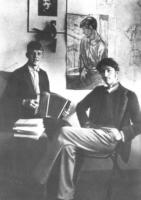 Сергей Александрович Есенин и Сергей Митрофанович Городецкий, 1915 год.