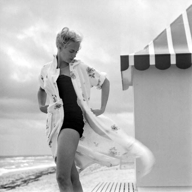 Фотосессия с известной моделью. США, Флорида, 1955 год.