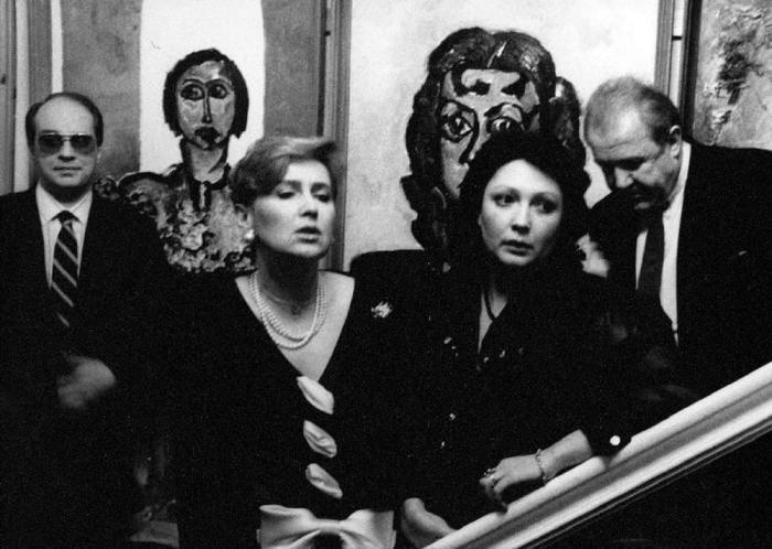 Гости в доме Зураба Церетели, 1990 год.