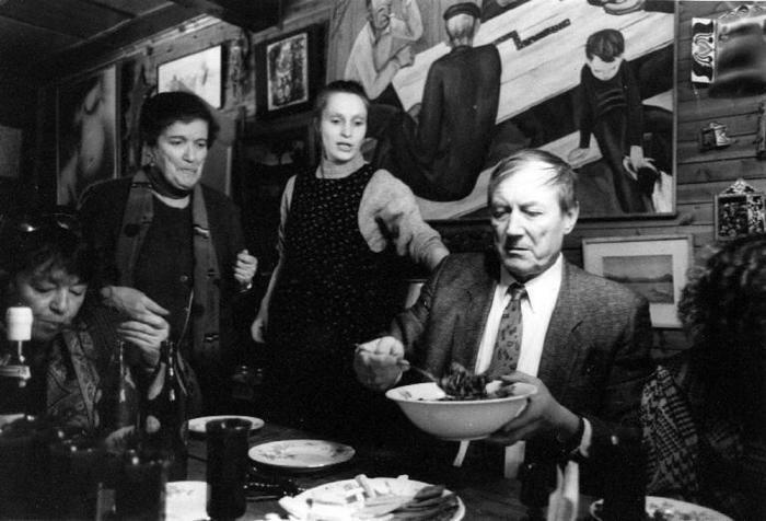Ужин с Евгением и Машей Евтушенко, 1990 год.
