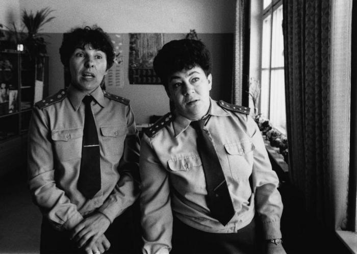 Женщины-офицеры в специальном учебно-воспитательном учреждении для несовершеннолетних, 1989 год.