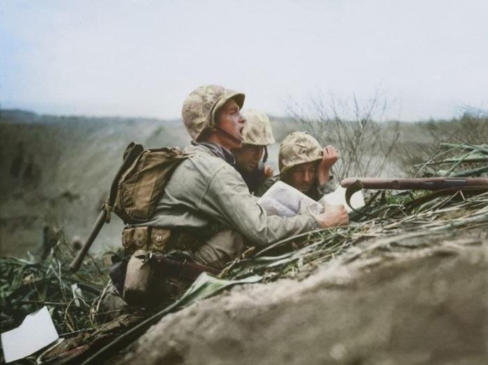 Союзники перед началом наступления, 1945 год.